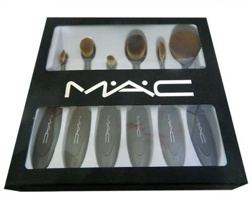 MAC 6 Pieces Basic Oval Makeup Brush Set - (ATS-005)