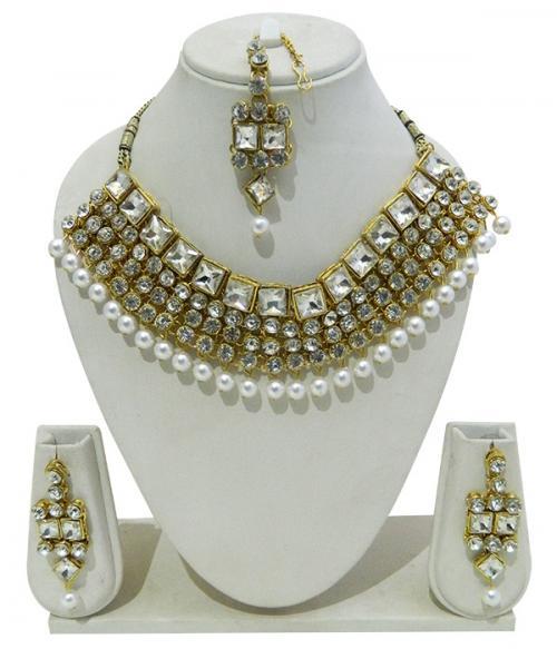 Designer Jewellery Set - Kundan Stones - (ATS-006)