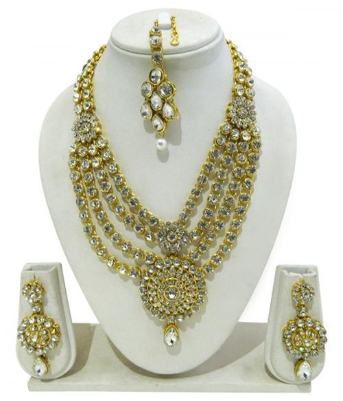 Designer Jewellery Set - Kundan Stones - (ATS-007)
