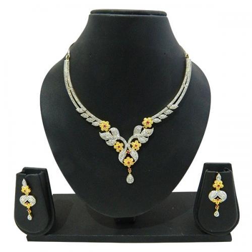 Designer Jewellery Set - Kundan Stones - (ATS-009)