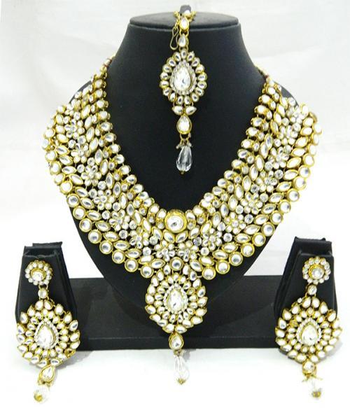 Designer Jewellery Set - Kundan Stones - (ATS-0010)