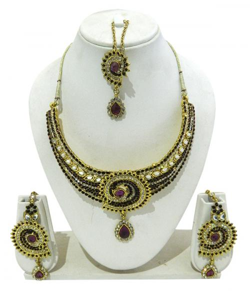 Designer Jewellery Set - Kundan Stones - (ATS-011)
