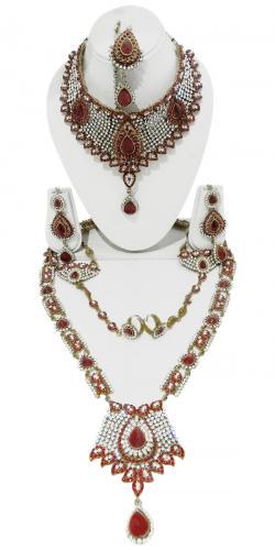Designer Jewellery Set - Kundan Stones - (ATS-012)