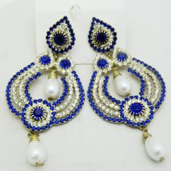 Blue Exclusive Designer Earrings - (ATS-051)