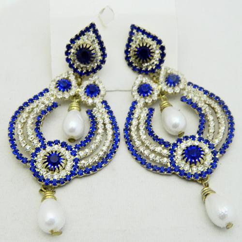 Blue Exclusive Designer Earrings - (ATS-051)
