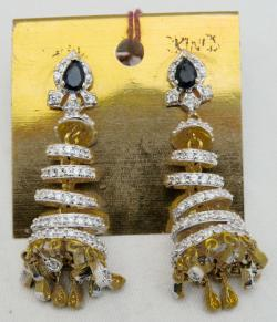 Diamond Stone Fashionable Earring - (ATS-054)