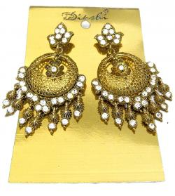 Golden Elegant Earring - (ATS-058)