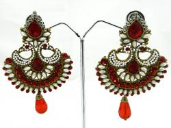 Exclusive Red Designer Earring - (ATS-059)