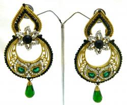 Designer Earrings With Stones - (ATS-022)