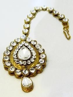 Gold Plated Designer Maang Tikka - Bindiya - (ATS-027)
