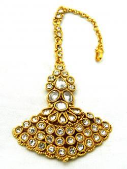 Gold Plated Designer Maang Tikka - Bindiya - (ATS-028)