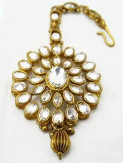 Gold Plated Designer Maang Tikka - Bindiya - (ATS-031)