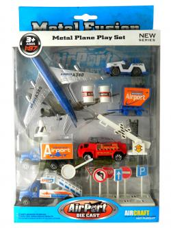 Metal Plane Play Set For Kids - (NUNA-070)