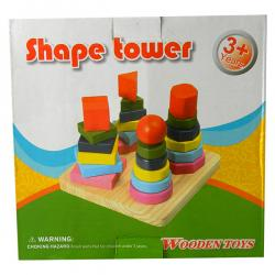 Shape Tower - Wooden Toys For Kids - (NUNA-099)