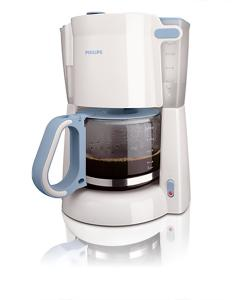 Philips Coffee Maker HD7448/70 With Glass Jug White & Blue - (HD-7448)