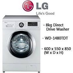 LG 8 KG Washing Machine WD 1480 TDT- (WD-1480TDT)