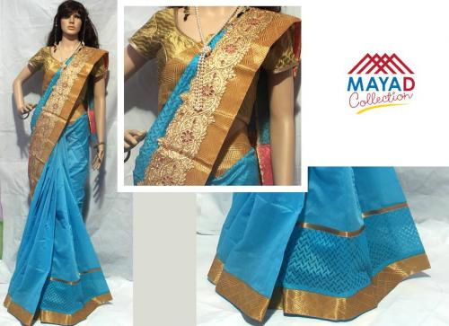 Blue Silk Saree For Ladies - (MDC-028)