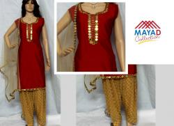 Glass Worked Kurta Set For Ladies - (MDC-037)