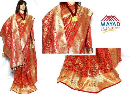 Red Banarasi Saree For Ladies - (MDC-038)