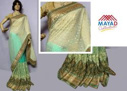 Light Green Georgette Saree For Ladies - (MDC-067)