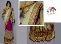 Pink Georgette Saree For Ladies - (MDC-068)