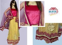 Pink/Yellow Designer Lehenga Choli - (MDC-071)