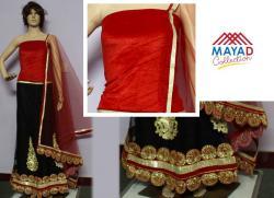 Black/Red Designer Lehenga Choli - (MDC-076)