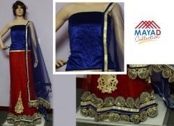 Blue/Red Designer Lehenga Choli - (MDC-077)