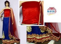Blue/Red Designer Lehenga Choli - (MDC-078)
