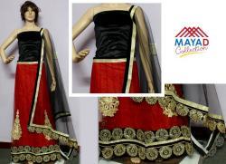 Red/Black Designer Lehenga Choli - (MDC-079)