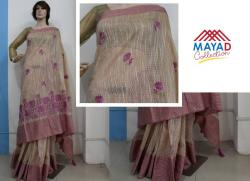 Cotton Silk Mixed Pink Saree For Ladies - (MDC-086)