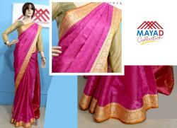 Royal Pink Silk Saree For Ladies - (MDC-087)