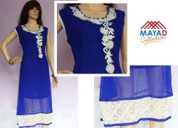 Blue Fashionable Kurti For Ladies - (MDC-091)