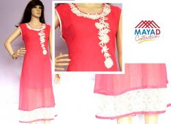 Pink Fashionable Kurti For Ladies - (MDC-092)
