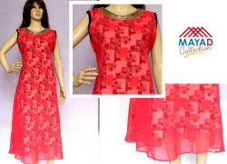 Peach Color Fashionable Kurti For Ladies - (MDC-093)
