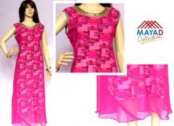 Pink Fashionable Kurti For Ladies - (MDC-095)