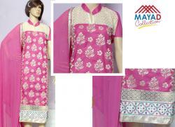 Pink Kurta Salwar Set For Ladies - (MDC-097)