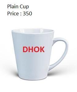 Dhok Plain White Cup - (DK-001)