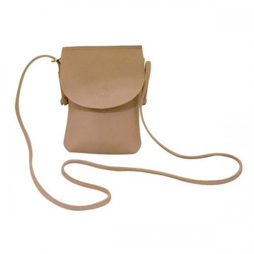 Cream Mobile Bag for Ladies - (LAC-038)