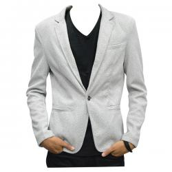 White Dotted Coat For Men - (TP-467)