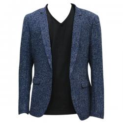 Blue Dotted Coat For Men - (TP-468)
