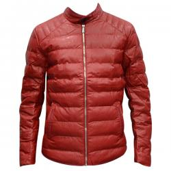 Red Rexine Jacket For Men - (TP-471)