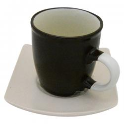 Black & White Cup Plate Set - Per Set - (TP-479)