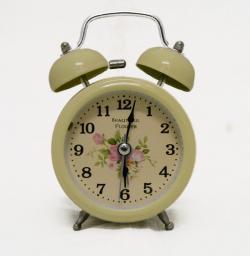 Beautiful Flower Printed Clock - (TP-534)