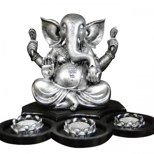 Lord Ganesh Lamp With Diyo - (ARCH-043)