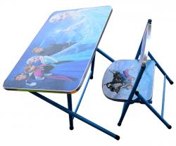 Frozen Kids Foldable Study Table And Chair - (TP-603)