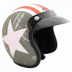 Vega Jet Old School Helmet - (SB-062)
