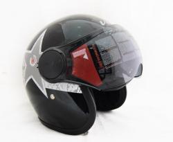 Vega Star Black & Silver Helmet - (SB-067)