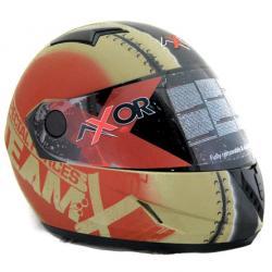 Axor Helmet - Team X (Dull Desert Storm Red Graphic) - (SB-078)
