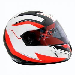 Axor A1 Streamline White Red Graphic Helmet - (SB-080)